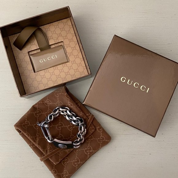 Gucci Runway Collection Mens Chain Link Bracelet